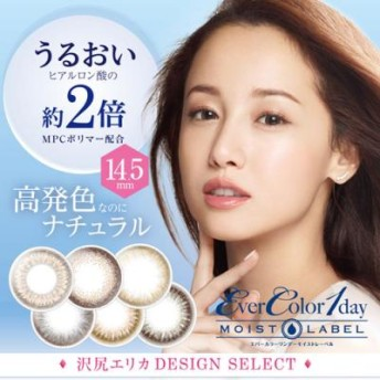 エバーカラー モイストレーベル Ever Color Moistlabel 1day 10枚入 (カラーコンタクト カラコン 沢尻エリカ)