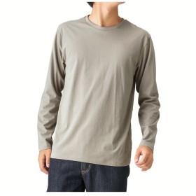 【25%OFF】 マックハウス Navy オーガニック100% ロングTシャツ MH/03600FW メンズ グレージュ S 【MAC HOUSE】 【セール開催中】