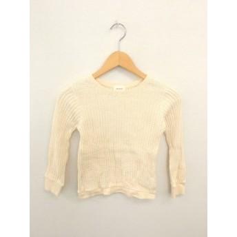 【中古】クゥオティユースフィス quoti use fith 子供服 キッズ ニット セーター 無地 シンプル 綿 コットン 長袖 130 薄橙