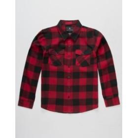 シャウトハウス ポロシャツ キッズ 男の子【SHOUTHOUSE Buffalo Boys Flannel Shirt】 RED