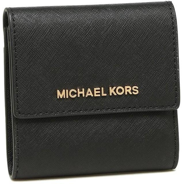 f848bcb924ae マイケルコース 財布 アウトレット MICHAEL KORS 35F8GTVD1L BLACK レディース 二つ折り財布 三つ折り財布 無地