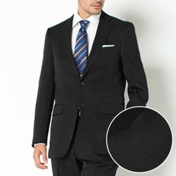 【ネット限定スーツ】レギュラーシャドーストライプ 2ボタンツータックスーツ(メンズ) クロ