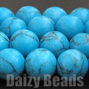 天然石 パワーストーン ビーズ 「ターコイズ (人工)」 丸玉 約8mm 1連(約38-40cm)