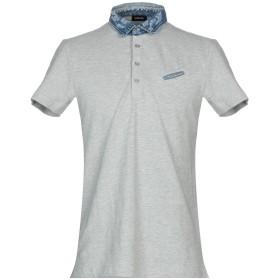 《期間限定 セール開催中》DIESEL メンズ ポロシャツ ライトグレー S コットン 100%