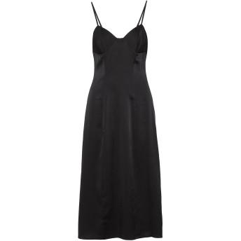 《セール開催中》MICHELLE MASON レディース 7分丈ワンピース・ドレス ブラック 2 シルク 95% / ポリウレタン 5%