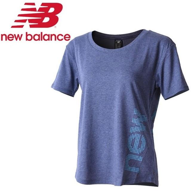 84f1552b3ba06 メール便対応 ニューバランス ヘザーテックショートスリーブTシャツ(グラフィック) AWT73124-PGH
