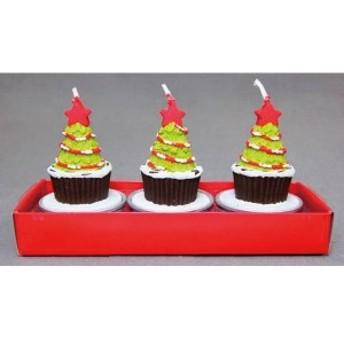 クリスマス 雑貨 ケーキキャンドル(3コ入)ロウソク