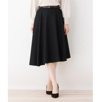 SHOO・LA・RUE / シューラルー 合皮ベルト付きイレヘムスカート