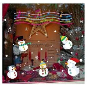 クリスマスウォールステッカー 雪だるま