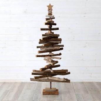 クリスマスツリー 流木ツリー 木製 Lサイズ オブジェ 置物 クリスマス装飾 個性的