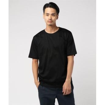 ESTNATION / ディオラマスムースカットソー ブラック/LARGE(エストネーション)◆メンズ Tシャツ/カットソー