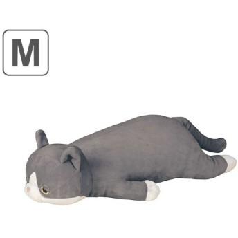 抱き枕 ぬいぐるみ ネコ プレミアムねむねむアニマルズ ふく Mサイズ ( 抱きまくら 動物 猫 )