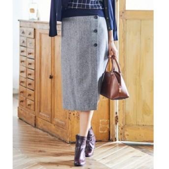 J.PRESS / ジェイプレス ワイドヘリンボン スカート