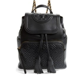 d97cd7cd8880 トリーバーチ バックパック・リュックサック バッグ レディース Tory Burch Fleming Lambskin Leather  Backpack Black