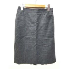 未使用品 ボディドレッシングデラックス BODY DRESSING Deluxe スカート 裾後フレア ジップ ストレッチ ひざ丈 無地 36 S グレー 日本製 B97837