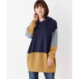 SHOO・LA・RUE / シューラルー フーデット配色チュニックワンピース