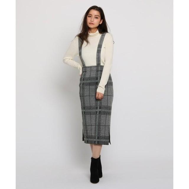 AG by aquagirl / エージー バイ アクアガール チェック柄ショルダーストラップニットタイトスカート