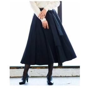 MK MICHEL KLEIN / 【洗濯機で洗える】タックフレアースカート