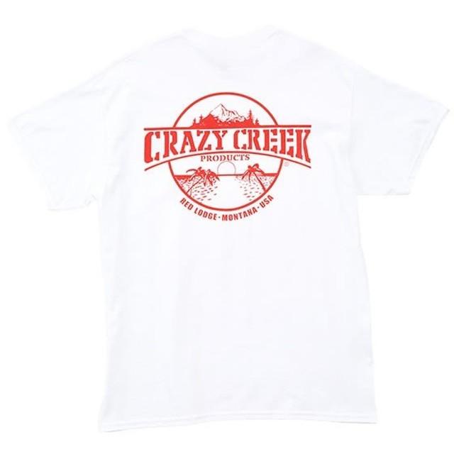 クレイジークリーク Crazy Creek Crazy Creek ロゴTシャツ ホワイト/レッド