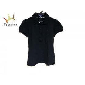 バーバリーブルーレーベル Burberry Blue Label 半袖ポロシャツ サイズ38 M レディース 黒   スペシャル特価 20190709