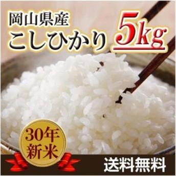 米 お米 5kg コシヒカリ 30年岡山県産 送料無料 北海道・沖縄は756円の送料がかかります。