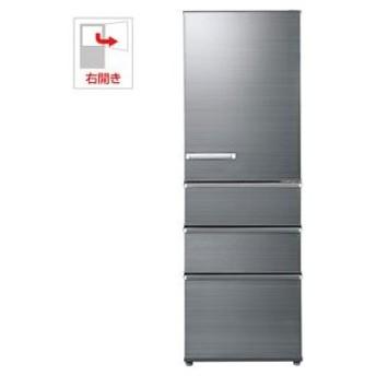 (標準設置 送料無料) アクア 375L 4ドア冷蔵庫(チタニウムシルバー)(右開き) AQUA SVシリーズ AQR-SV38H-S 返品種別A