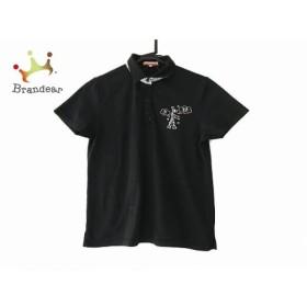 カステルバジャックスポーツ 半袖ポロシャツ サイズ44 L レディース 美品 黒 刺繍  値下げ 20190714