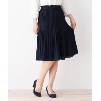 3can4on / サンカンシオン 【4(LL)WEB限定サイズ】ジョーゼットプリーツスカート