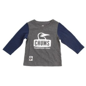 チャムス(CHUMS) キッズ ブービーフェイス長袖Tシャツ CH21-1043 Crazy (Lady's)