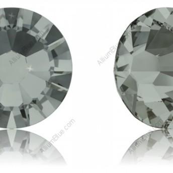 【スワロフスキー#2058】10粒 XILION ラインストーン SS12 ブラックダイアモンド (215) F