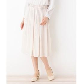 grove / グローブ 【ママスーツ/入卒/WEB限定サイズあり】ジョーゼットAラインプリーツスカート