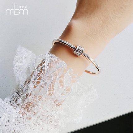 新款滿鑽時尚玫瑰金手環3 鈦鋼飾品不褪色不過敏