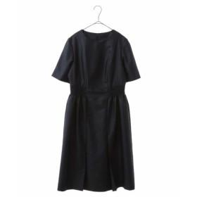 HIROKO BIS / シャーリングデザインドレス