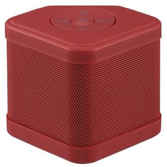 オーム電機 ワイヤレス Bluetoothキュービックスピーカー レッド ASP-W110N-R