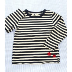 ボブソン Bobson 長袖Tシャツ ロンt 100cm 白/紺系 ボーダー キムラタン キッズ トップス 男の子 女の子 子供服 通販 買い取り