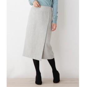 OPAQUE.CLIP / オペーク ドット クリップ ウールブレンドラップナロースカート