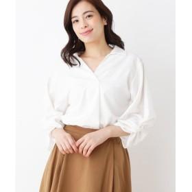 SHOO・LA・RUE / シューラルー ボリューム袖スキッパーシャツ