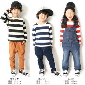 5a95476f1adf0 Tシャツ - devirock  devirock プリントワイドボーダーロンT 男の子 女の子 トップス 全3
