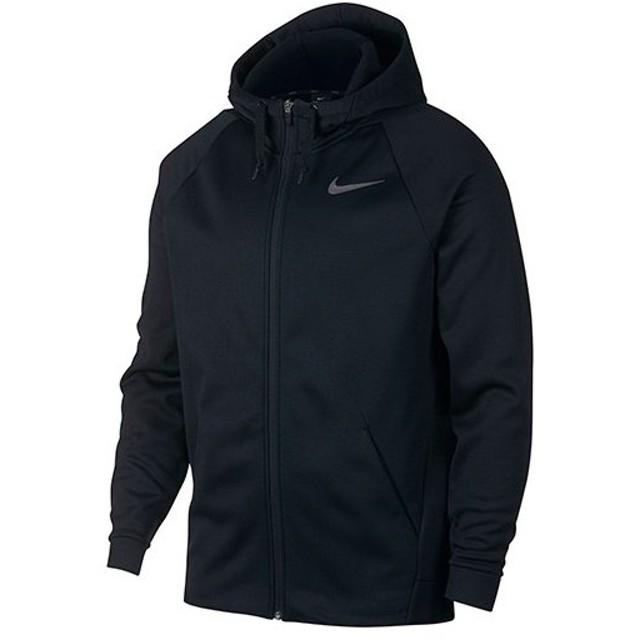 ナイキ(NIKE) メンズ THERMA フルジップ フーディ ブラック/ダークグレー 931997 010 スポーツウェア トレーニングウェア フードジャケット
