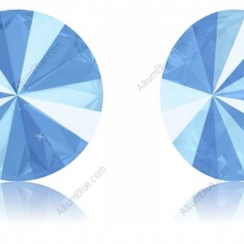【スワロフスキー#1122】2粒 リボリ 12mm クリスタル・サマー・ブルー (001L114S) 裏面にホイル無し