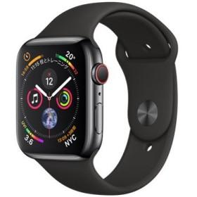 Apple Watch Series 4 GPS+Cellularモデル 44mm MTX22J/A [スペースブラックステンレススチールケース/ブラックスポーツバンド]