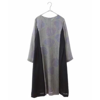 HIROKO BIS ヒロコビス / 【洗える】切り替えプリントドレス