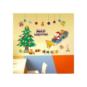 ウォールステッカー サンタクロース トナカイ クリスマスツリー