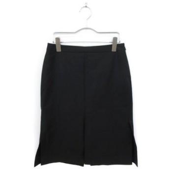 プロポーション ボディドレッシング PROPORTION BODY DRESSING スカート タイト ひざ丈 スリット ウール 3 黒 ブラック