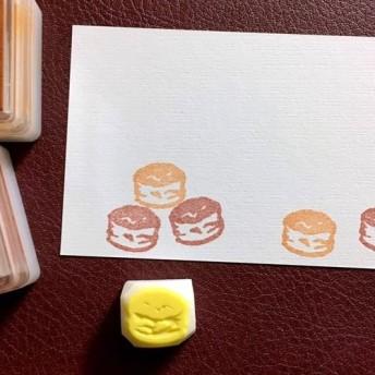 小さなスコーンの消しゴムはんこ(持ち手つき)【お菓子シリーズ】