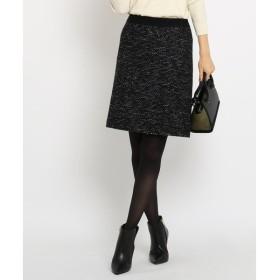 INDIVI セミAライン ツイード スカート