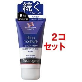 ニュートロジーナ ディープモイスチャー ハンドクリーム 乾燥肌用 微香性 ( 75mL2コセット )/ Neutrogena(ニュートロジーナ)