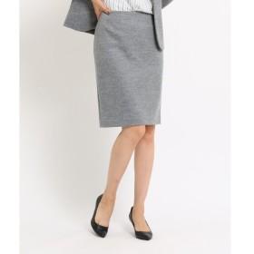 INDIVI / インディヴィ [S]ウール混バックスリットタイトスカート