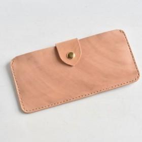 革の手染め財布 「mokha No.18(スリムな長財布)」