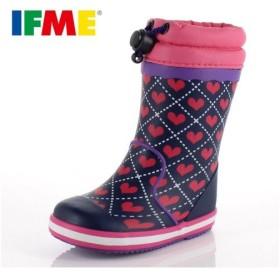 イフミー ベビー キッズ 長靴 IFME RAINBOOTS 80-8724 NAVY レインブーツ ネイビー ピンク 防水 防滑